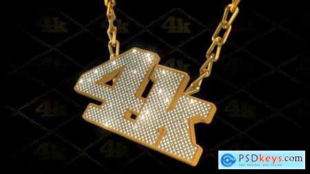 Hip-Hop Style Bling-Bling 3D Pendant on Chain 2924254