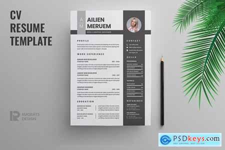 Minimalist CV Resume R50 Template
