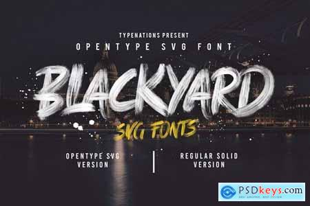Blackyard OpenType - SVG Font 3100953