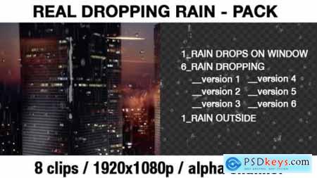 Transparent Rain Drops Rain Dropping Real Rain Effect 20288894