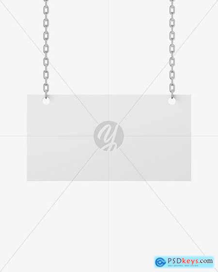 Sign w- Chain Mockup 58793