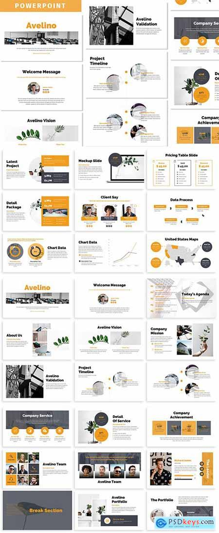 Avelino - Business Powerpoint Template