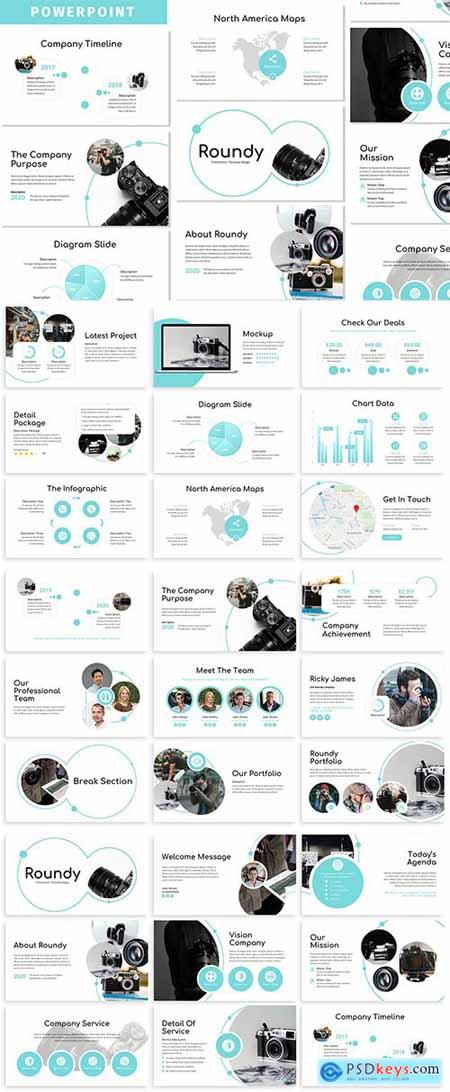Roundy - Business Powerpoint Template