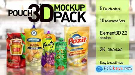 Pouch 3D Mockup Pack 26406894