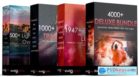 4000+ Deluxe Bundle Collection  Overlays, Transitions, Luts