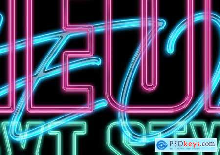 Neon Text Layer Style 4605483