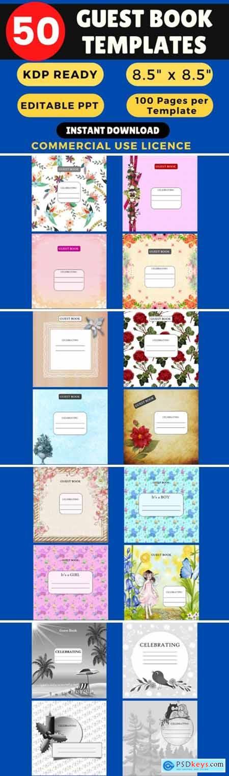 KDP Bundle 50 Guest Books Templates