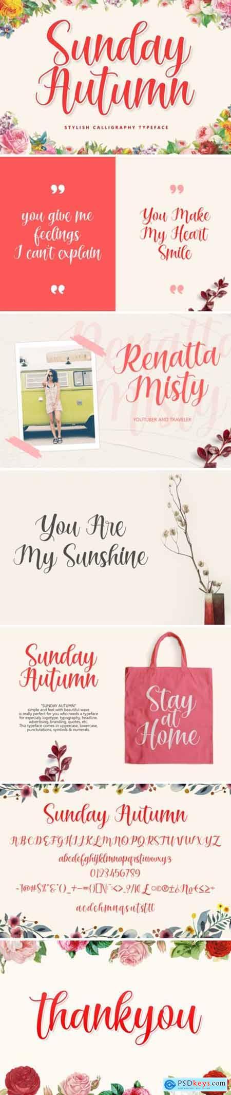 Sunday Autumn Font