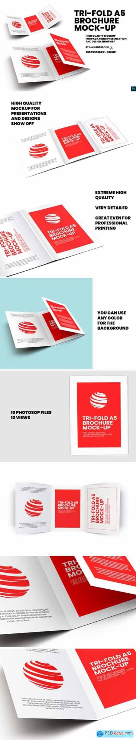Tri-Fold A5 Brochure Mock-up 3913718