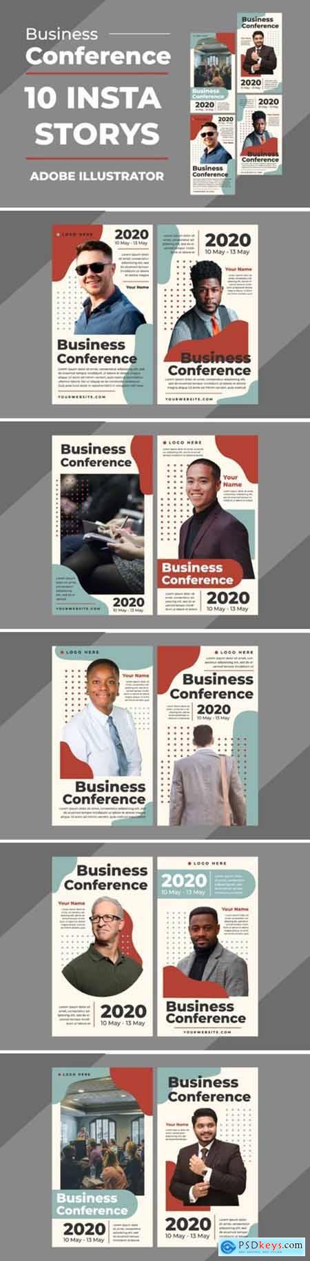 Business Insta Stories Vector Templates 3927682
