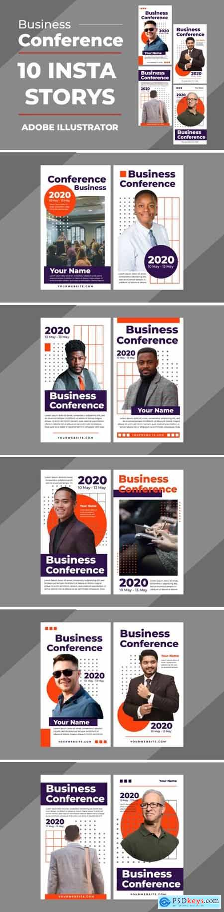 Business Insta Stories Vector Templates 3927702