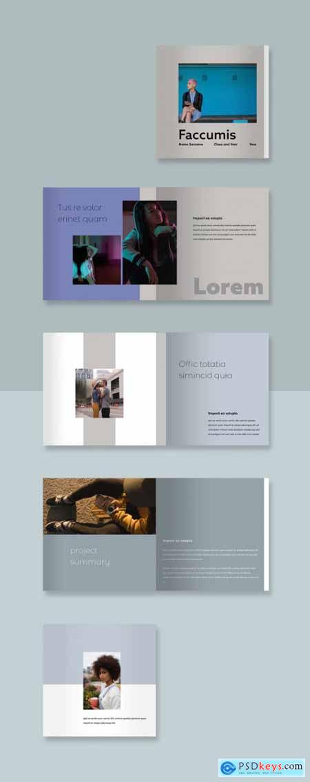 Muted Booklet Layout 342073733