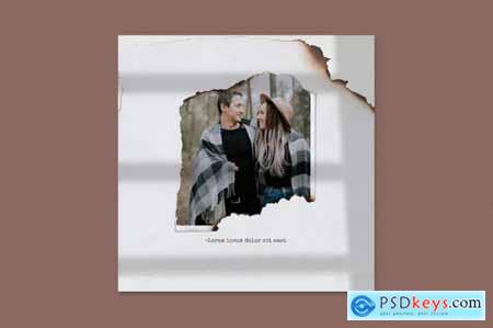Paper torn & burn photo templates