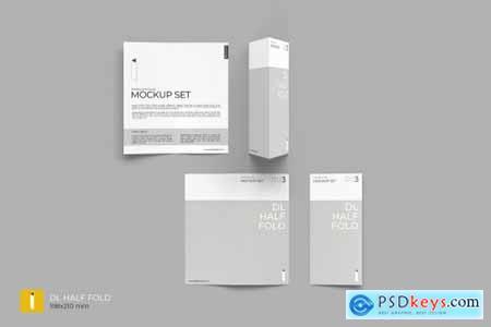Folding Brochure Mockup Set 4409695