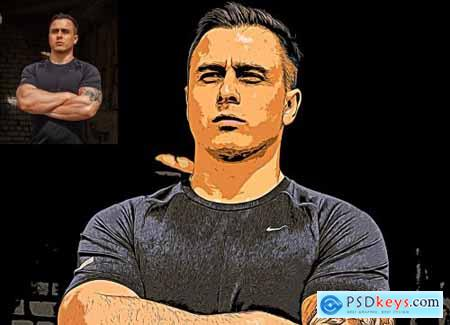 Oil Pop Art Photoshop Action 4849426
