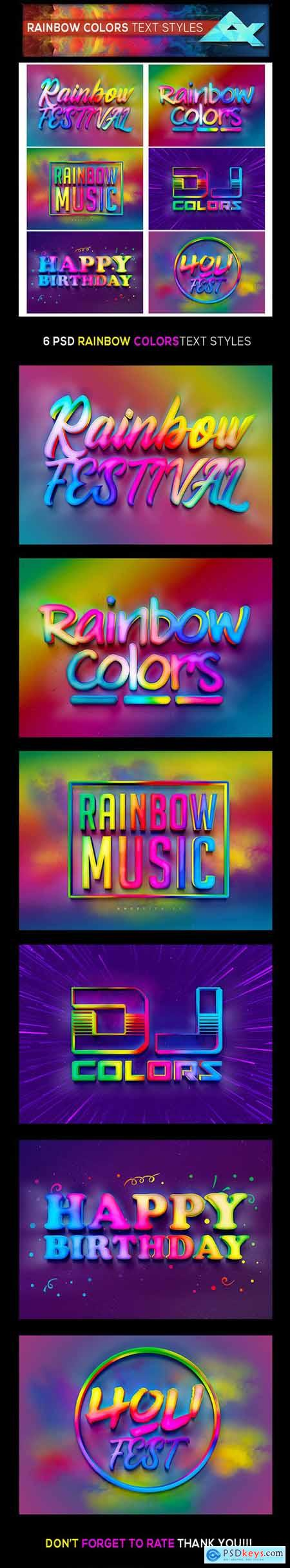 Rainbow Colors Photoshop Text Effects Styles 26378765