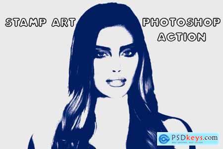 Stamp Art Photoshop Action 4843429