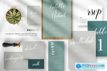 Calming Green Wedding Suite AE