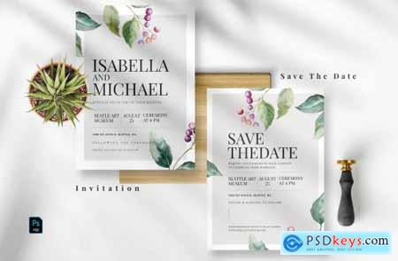 Romantic Floral Invitation Set EZ