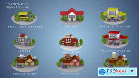 3D Animated Building Icon Pack 3 9852024