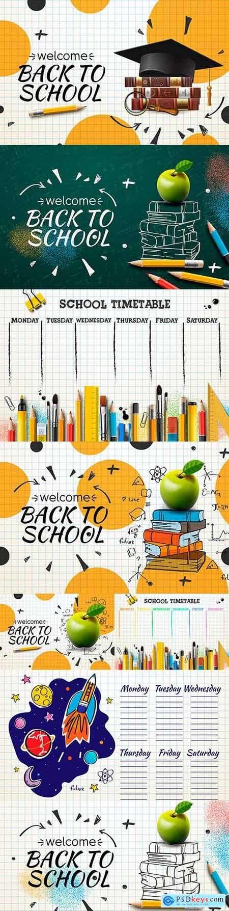 Back to school and accessories collection illustration 38