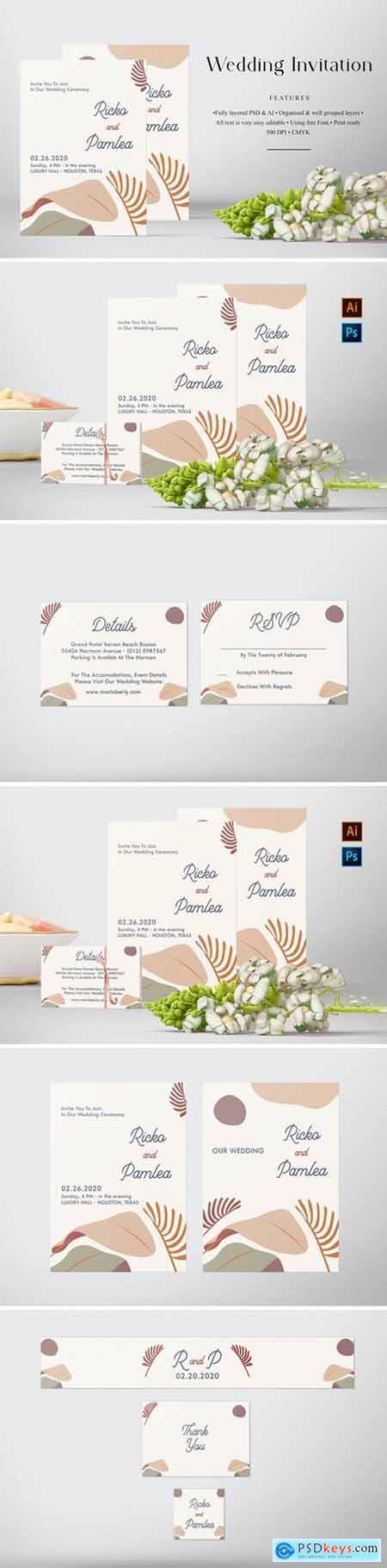 Ricko and Pamlea Wedding Invitation