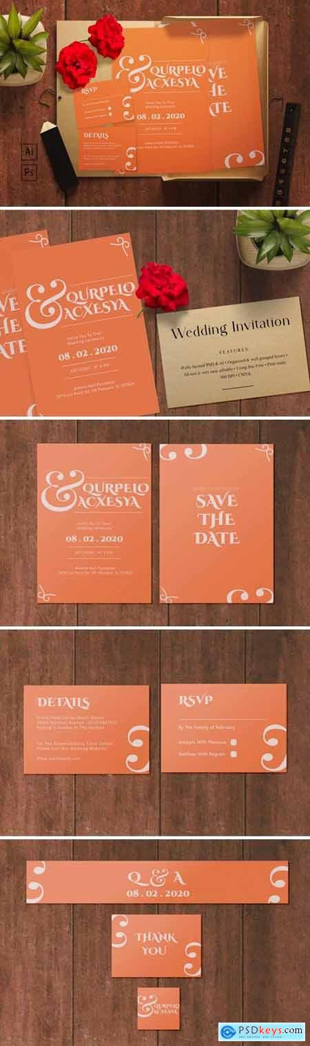 Querpelo and Axcesya- Wedding Invitation