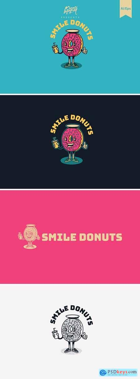 Smile Donuts Logo Template