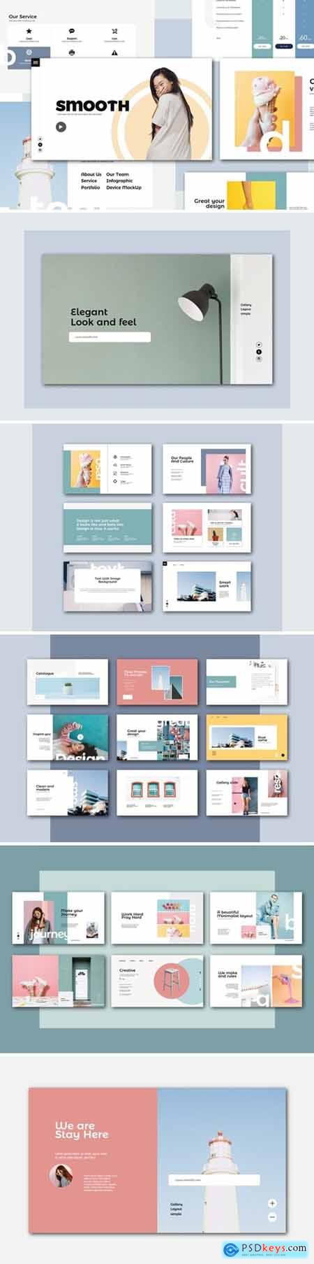 Smooth Powerpoint, Keynote and Google Slides Templates