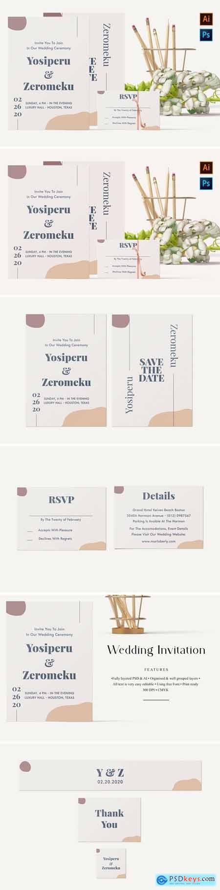 Yosiperu and Zeromeku-Wedding Invitation