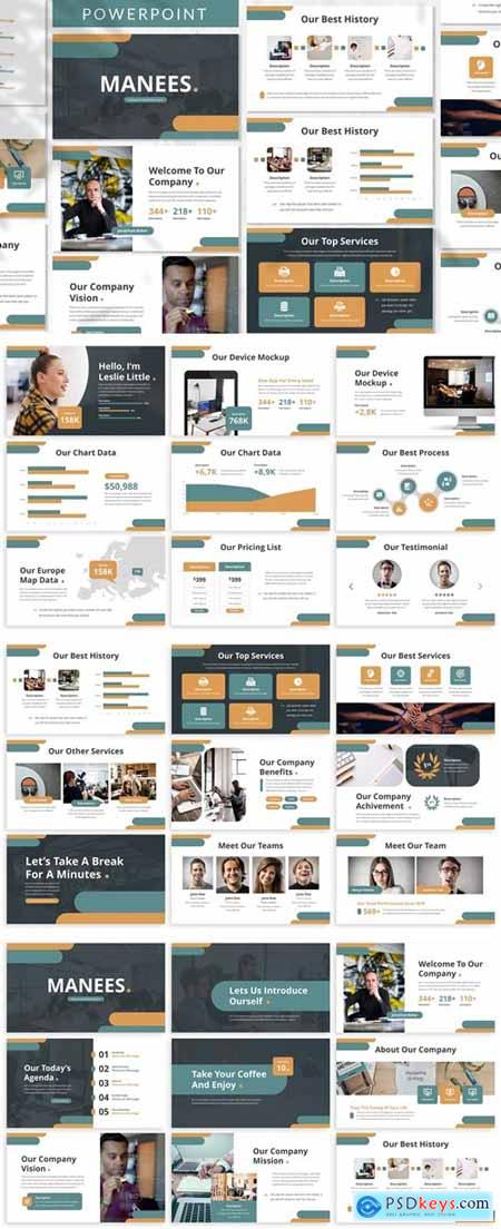 Manees - Business Powerpoint Template
