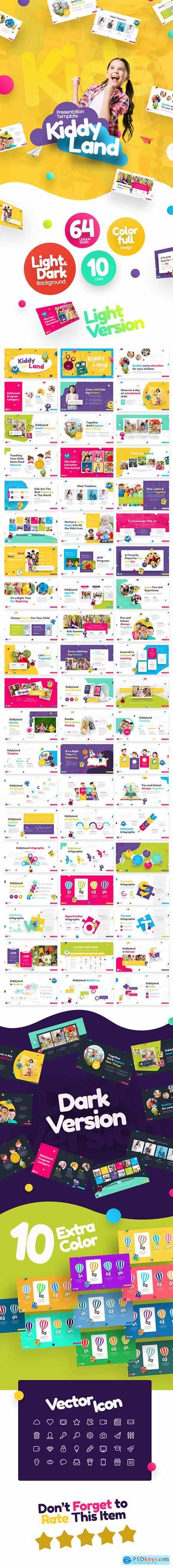 Kiddyland Fun Education PowerPoint Presentation Template 24663871