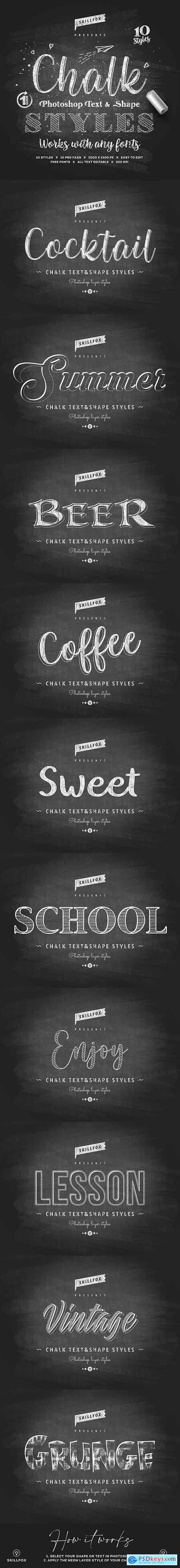 Chalk Photoshop Styles 26441132