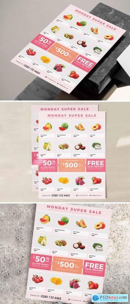 Supermarket - Grocery Flyer Template 3973906