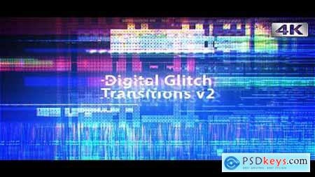 Digital Glitch Transitions v2 4K 19597277