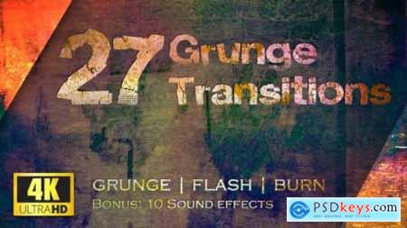 Grunge Transitions Pack of 27 4K 22588676