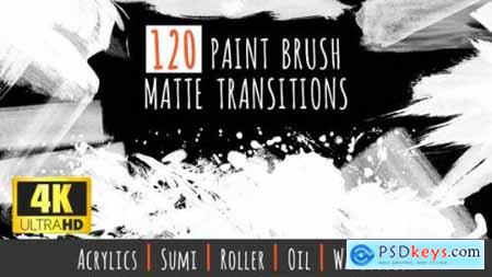 120 Paint Brush Matte Transitions 4K Pack 22910689