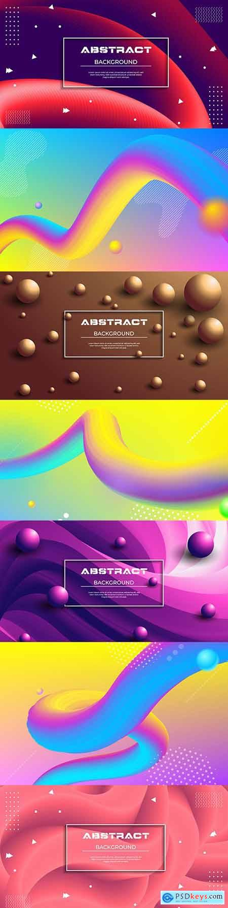 Fashion and abstract color gradient 3d background