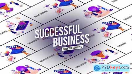 Successful Business Isometric Concept 26531099