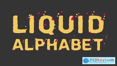 Liquid Alphabet 23754381