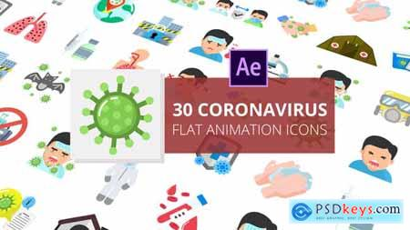 Coronavirus Flat Animation Icons After Effects 26517928