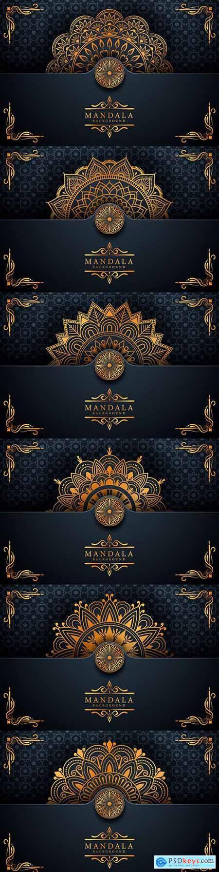 Mandala luxury elegant Ramadan style background