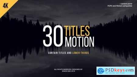 30 Motion Titles FCPX or Motion 23651312