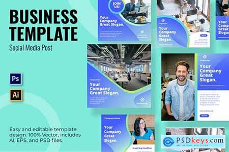 Business Company Social Media Template