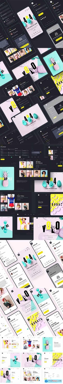 YOLO SHOP responsive template (80screens)