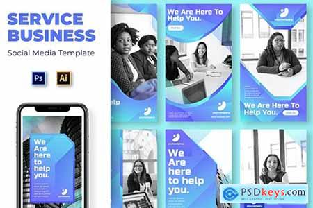 Service Business Social Media Template