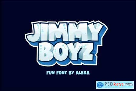 JIMMY BOYZ - Bold and FUN font