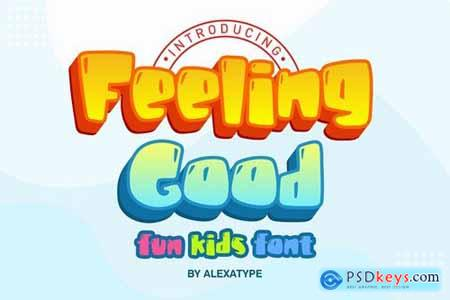 Feeling Good - fun kids font
