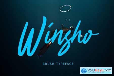 Winsho Brush Typeface