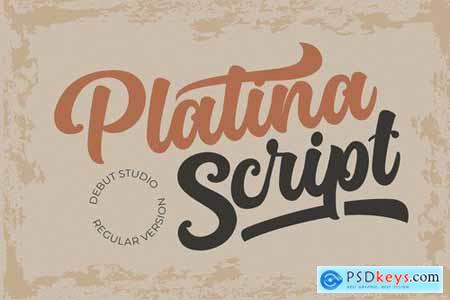 Platina Script Regular Version 4784435